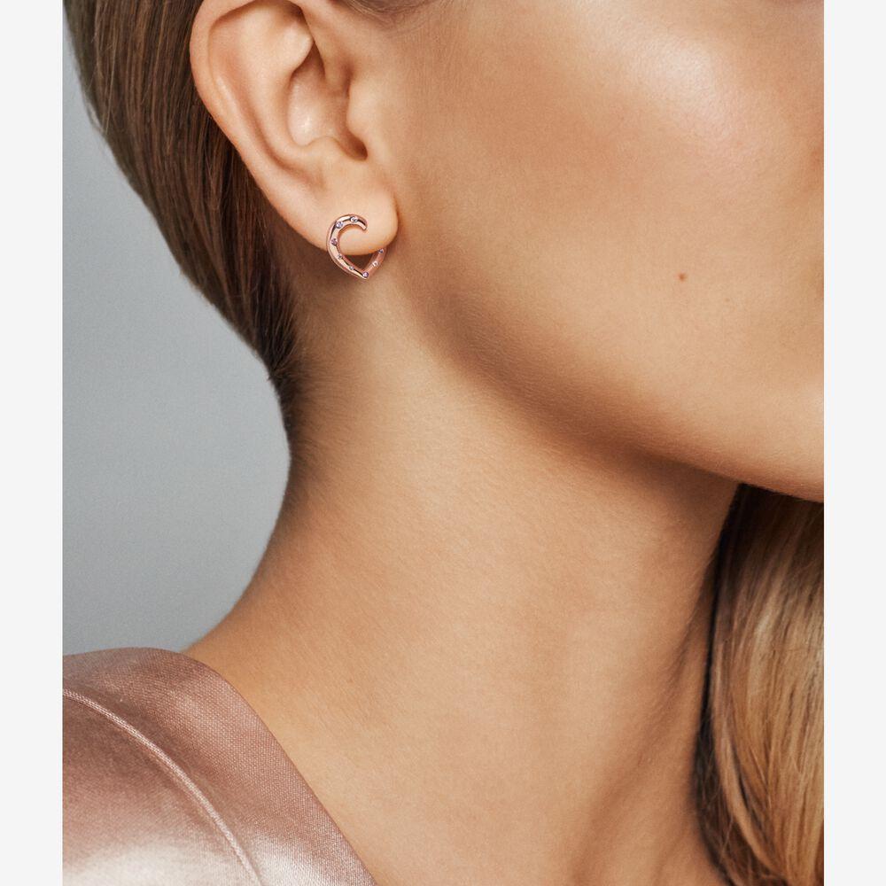 Hearts Hoop Earrings Pandora Rose