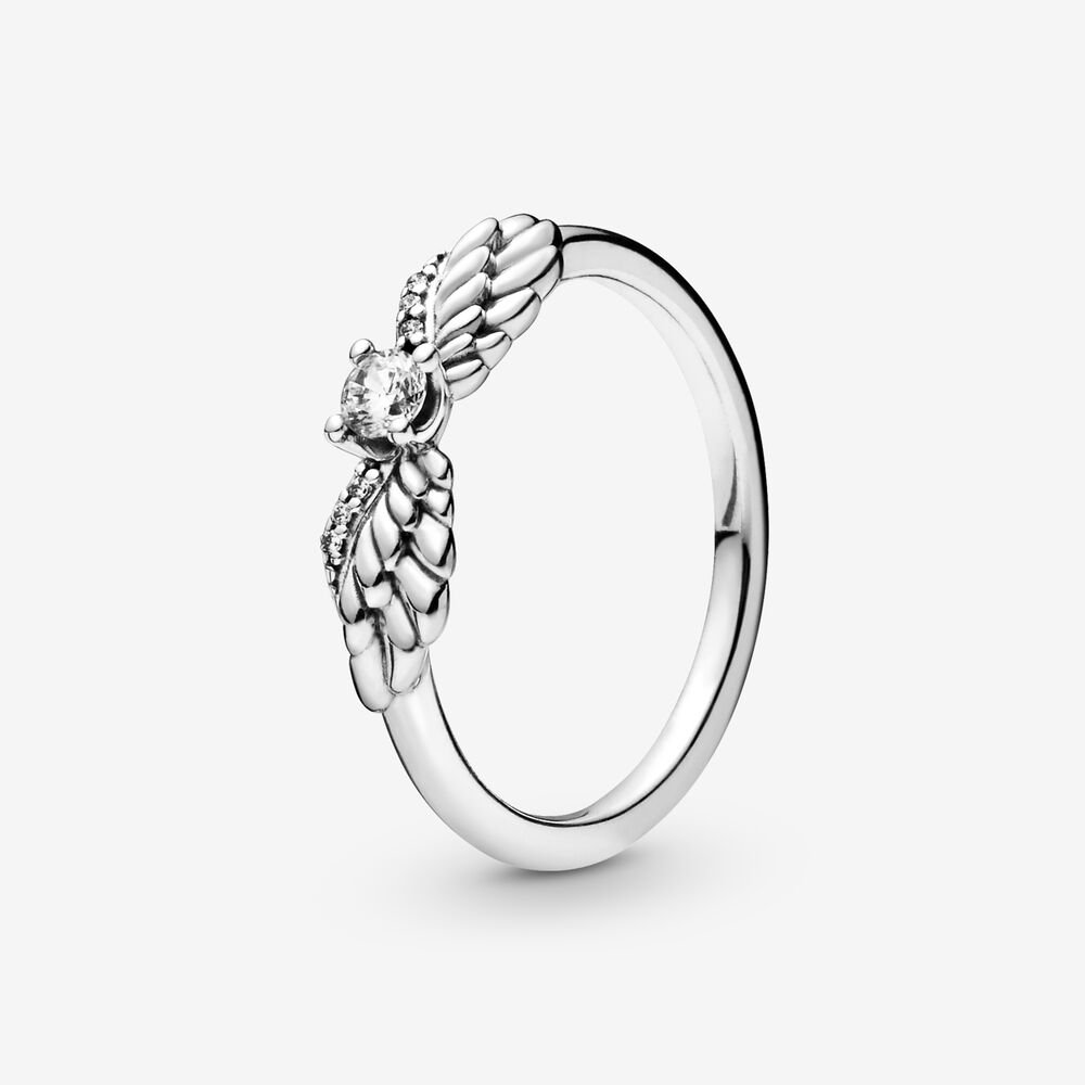 Sparkling Angel Wings Ring Silver Pandora Us
