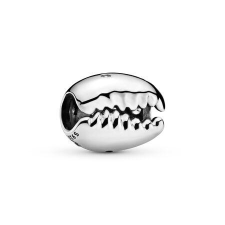Sparkling Coffee Bean Shell Charm, Sterling silver, Cubic Zirconia - PANDORA - #798131CZ