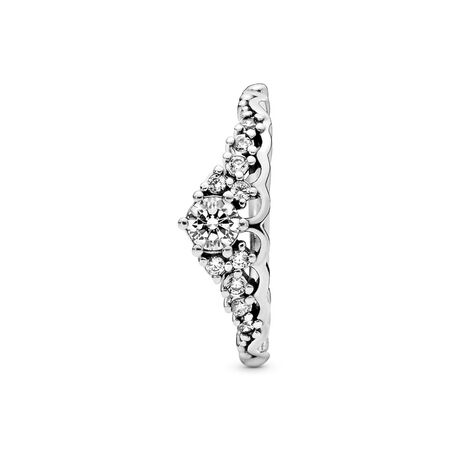 Fairytale Tiara Ring, Clear CZ