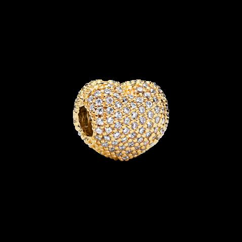 PavéHeart Clip Charm