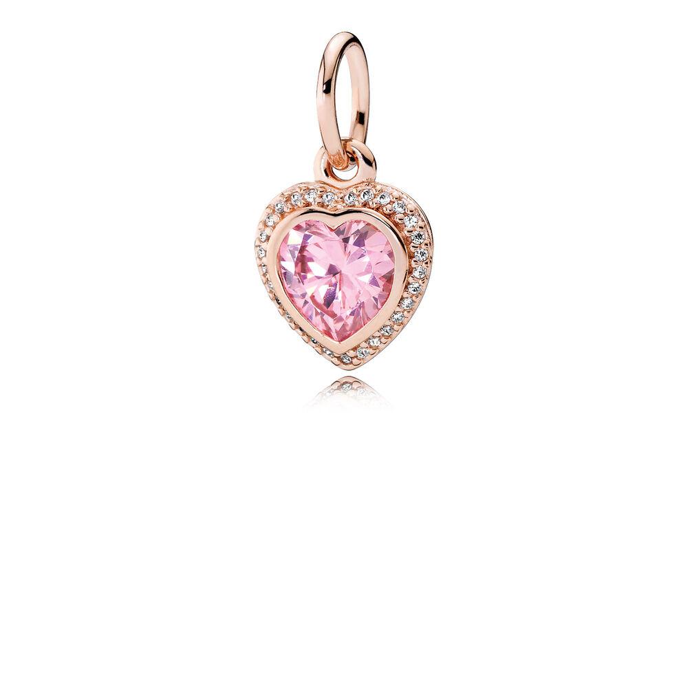 sparkling love pendant pandora rose pink clear cz pandora