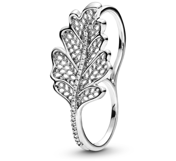 Oak Leaf Double Ring