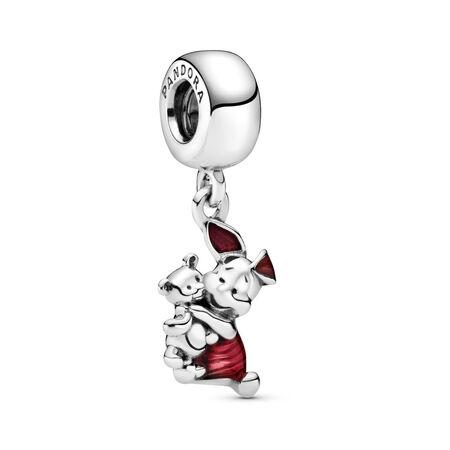 Disney, Piglet Dangle Charm, Transparent Cerise Enamel, Sterling silver, Enamel, Pink - PANDORA - #792134EN117