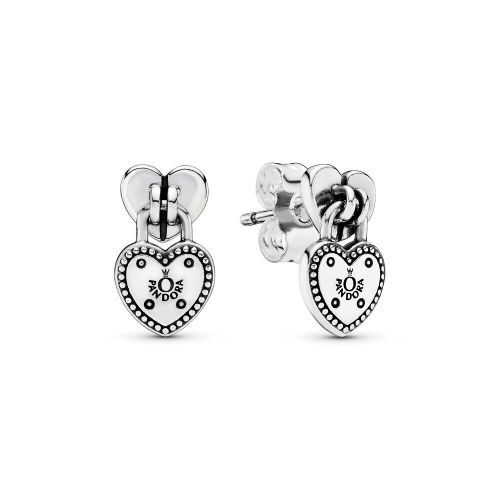 127e6c00d Love Locks Stud Earrings, Sterling silver - PANDORA - #296575