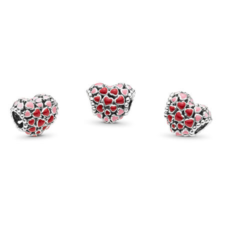 Red & Pink Hearts Charm