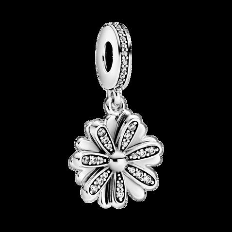 Sparkling Daisy Flower Dangle Charm