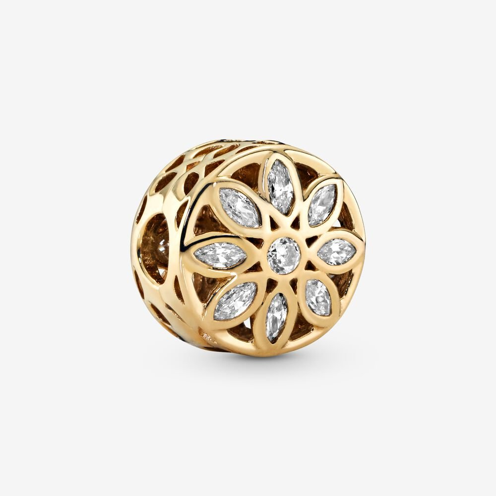Openwork Marquise Flower Clip Charm