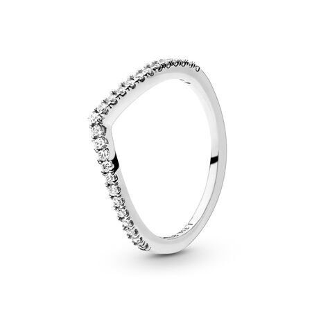 Shimmering Wish Ring, Clear CZ