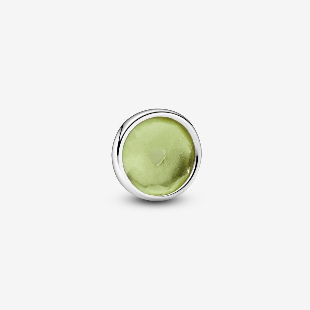 Green August Birthstone Locket Element