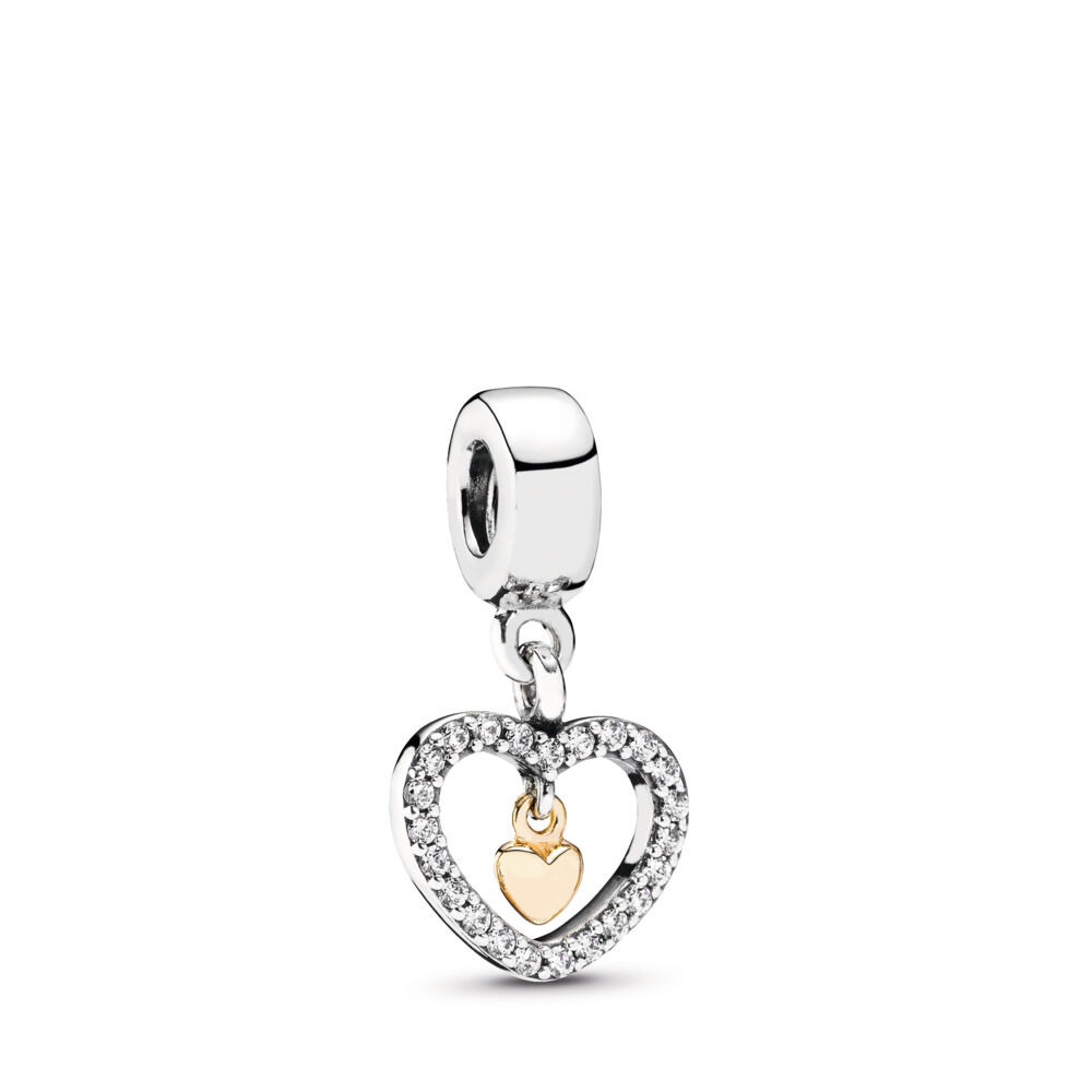 fe76c59f5 Forever in My Heart, Clear CZ, Two Tone, Cubic Zirconia - PANDORA -