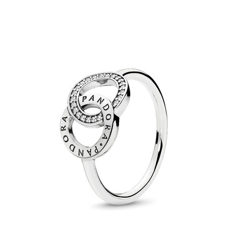PANDORA Circles Ring, Clear CZ