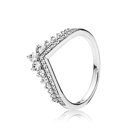 Princess Wish Ring Clear CZ
