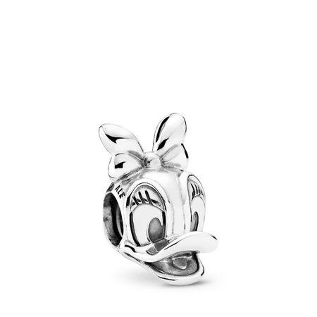 Disney, Daisy Duck Portrait Charm, Sterling silver - PANDORA - #792137