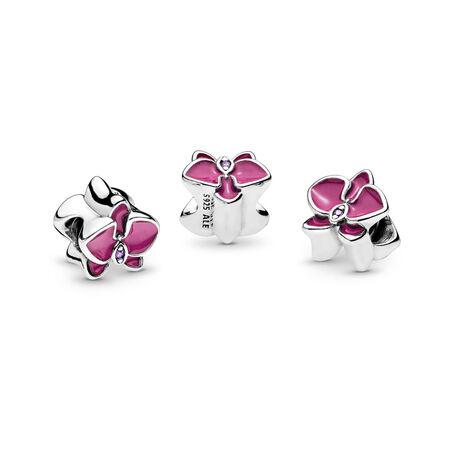 Orchid Charm, Radiant Orchid Enamel & Purple CZ