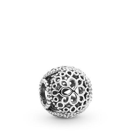 Openwork Flower Charm, Sterling silver - PANDORA - #797853