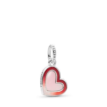 Asymmetric Heart of Love Charm, Mixed Enamel, Sterling silver, Enamel - PANDORA - #797820ENMX