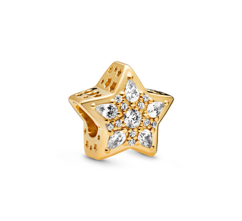 Star Pandora Shine charm with clear cubic zirconia