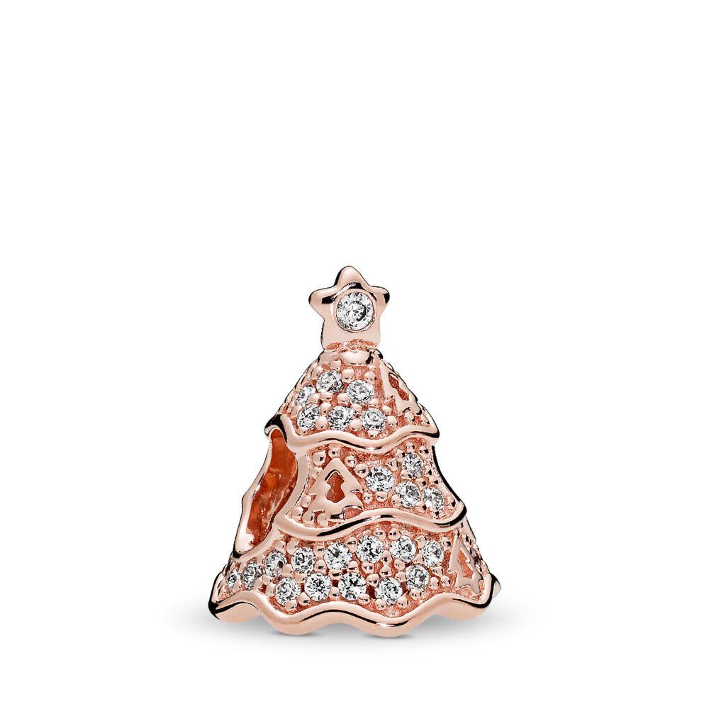 Twinkling Christmas Tree Charm, PANDORA Rose™ & Clear CZ