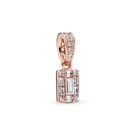 Luminous Ice Pendant, Clear CZ, PANDORA Rose, Cubic Zirconia - PANDORA - #387543CZ
