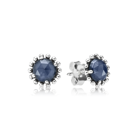 Midnight Star Stud Earrings, Midnight Blue Crystal