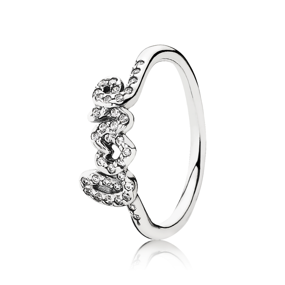 Signature Of Love Ring, Clear CZ | PANDORA Jewelry US