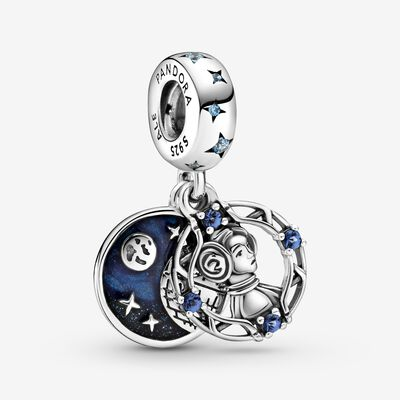 Star Wars Princess Leia Double Dangle Charm , Silver