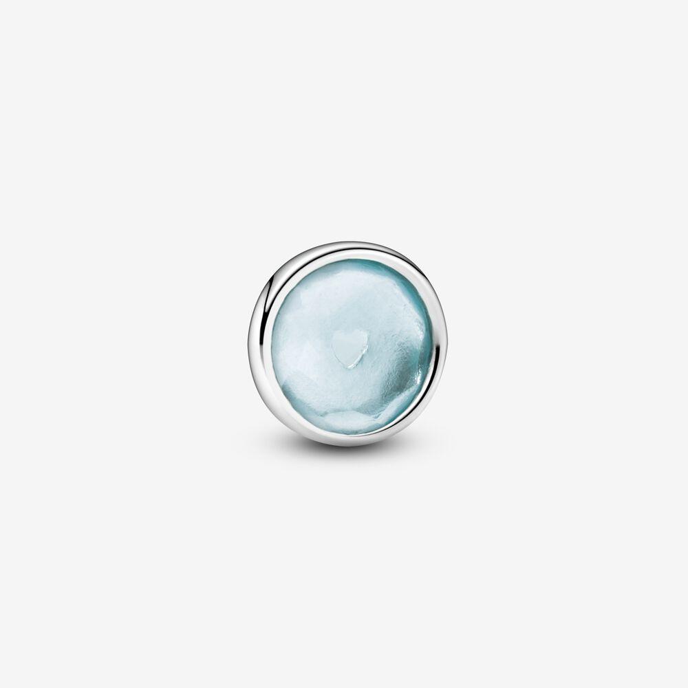 Aqua Blue March Birthstone Locket Element