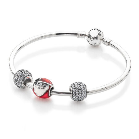 Sparkling Santa Bangle Set