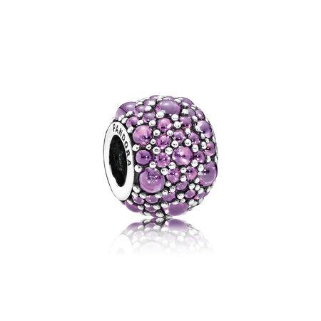 Shimmering Droplets Charm, Fancy Purple CZ