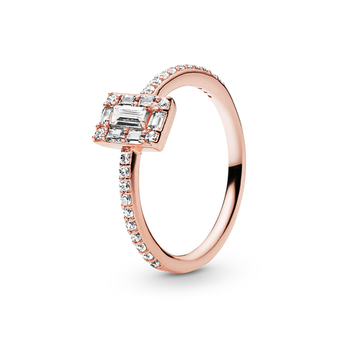 Sparkling Square Halo Ring - FINAL SALE