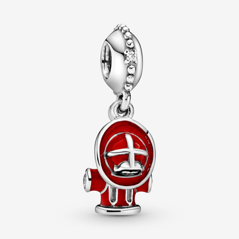 Fire Hydrant & Helmet Dangle Charm
