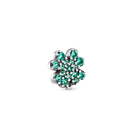Radiant Green Clover Petite Charm