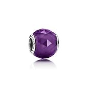 Geometric Facets Charm, Royal-Purple Crystal