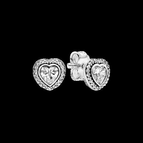 Sparkling Heart Stud Earrings - FINAL SALE