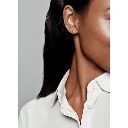 Sparkling Triangles Stud Earrings, Pandora Shine™, 18ct Gold Plated, Cubic Zirconia - PANDORA - #268030CZ