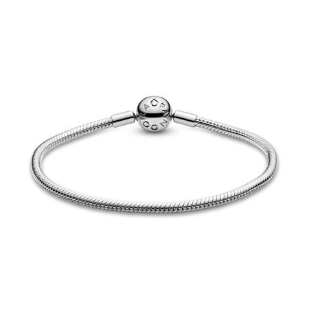 Moments Snake Chain Bracelet, Sterling silver - PANDORA - #590728