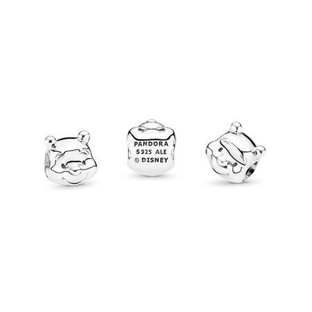 Disney, Winnie the Pooh Portrait Charm, Sterling silver - PANDORA - #791566