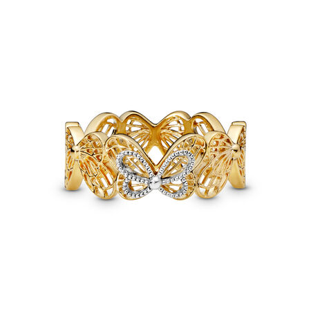 Openwork Butterflies Ring, Pandora Shine™