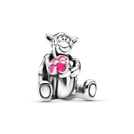 Disney Tigger Winnie the Pooh Charm, Sterling silver, Enamel, Pink - PANDORA - #792135EN80