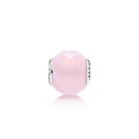 FRIENDSHIP Charm, Opalescent Pink Crystal