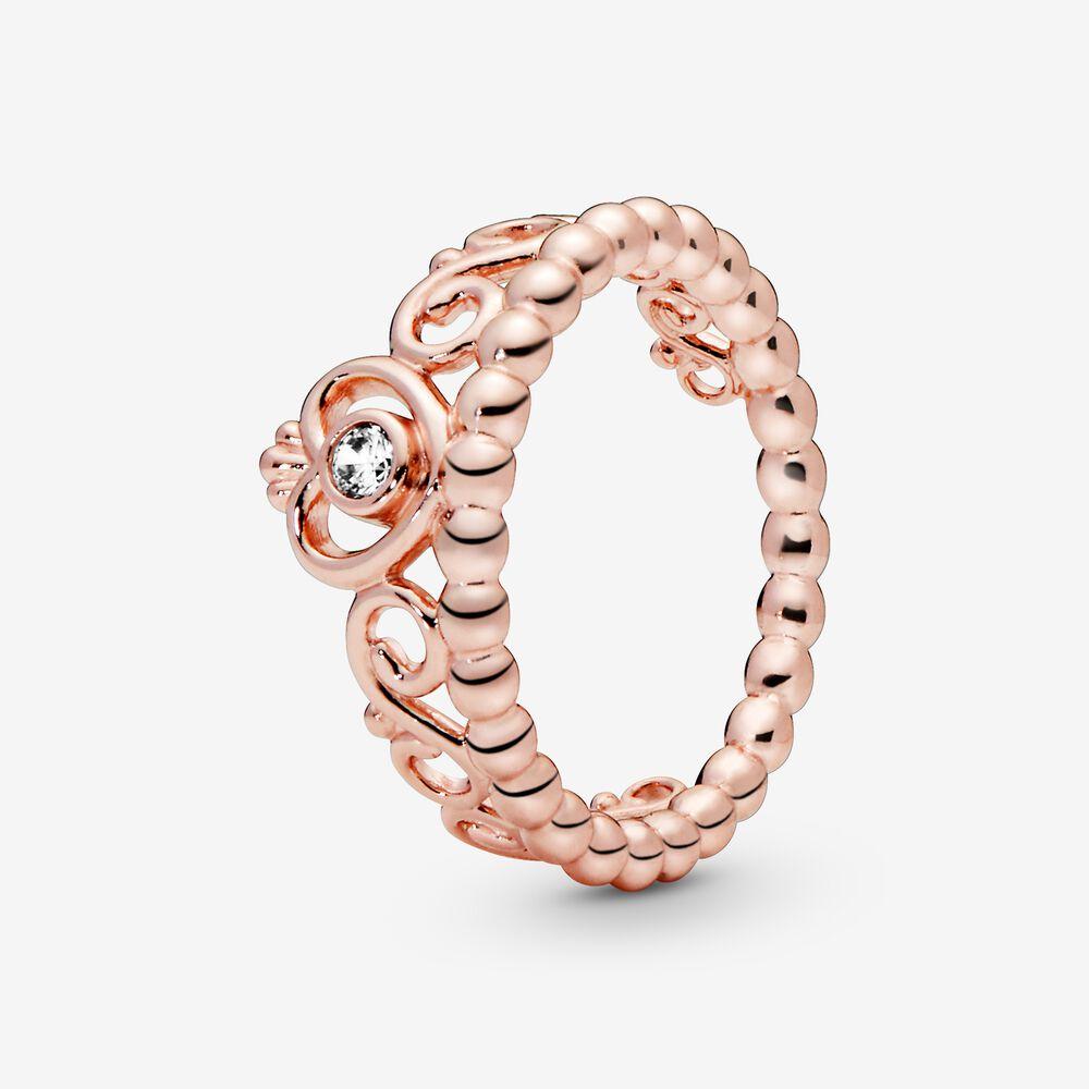 My Princess Tiara Ring in Pandora Rose™ with CZ | Rose gold plated ...