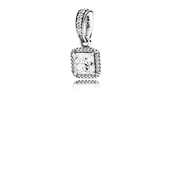 Timeless Elegance Pendant, Clear CZ