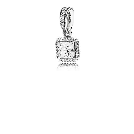 Timeless Elegance Pendant, Clear CZ
