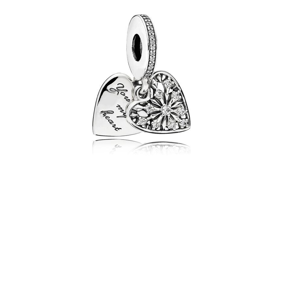 Heart Of Winter Dangle Charm Clear Cz Pandora Jewelry Us
