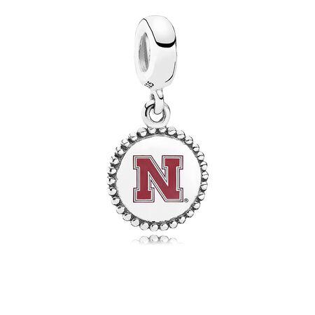 University of Nebraska Dangle Charm, Red Enamel