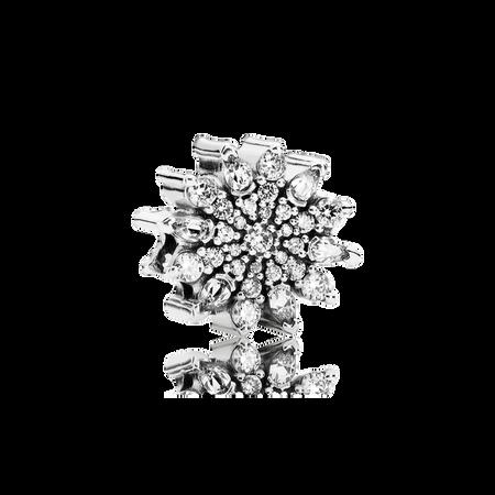 Ice Crystal Charm, Clear CZ