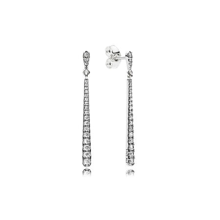 Shooting Stars Dangle Earrings Clear Cz
