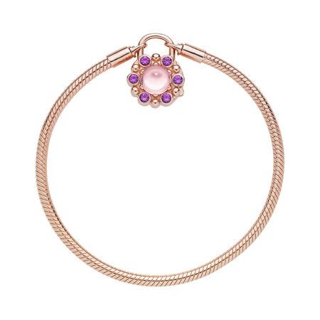 Heraldic Radiance Padlock Bracelet, PANDORA Rose™ & Pink