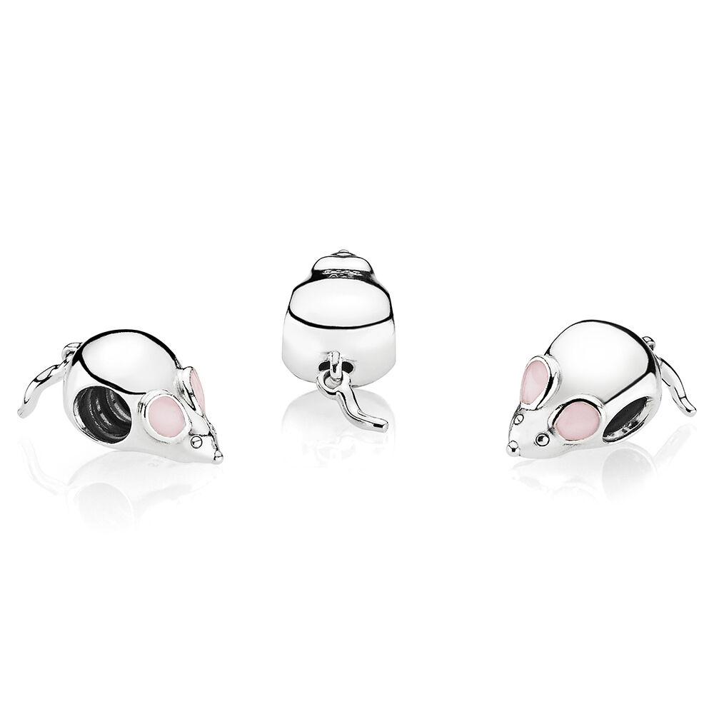 Cute Mouse Charm Pink Enamel Pandora Jewelry Us